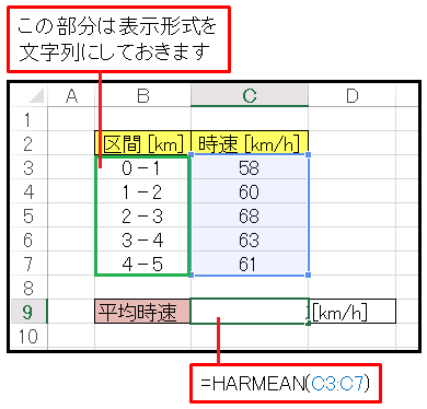 Excelで車の平均時速を計算