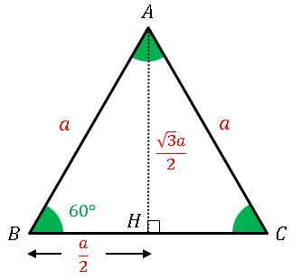 正三角形の高さ