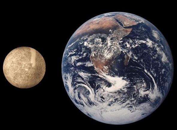 水星と地球の比較