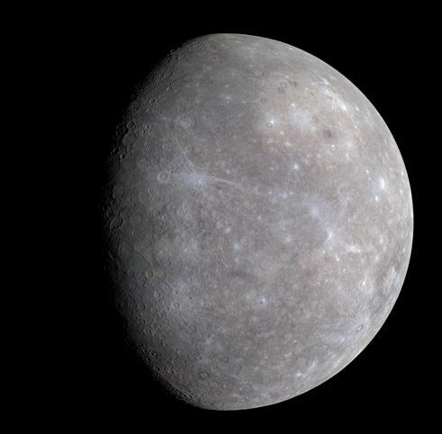 メッセンジャーが撮影した水星写真