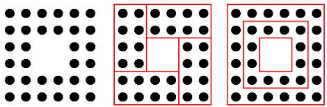 中空方陣2列の数え方