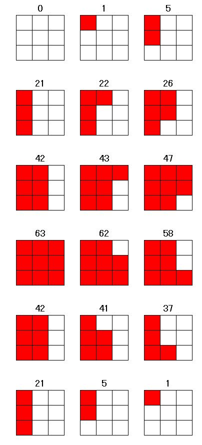 Excelマス目と数列の解答図