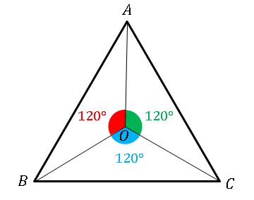 正三角形の回転対称軸