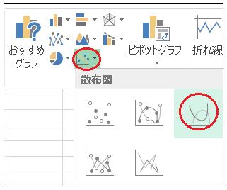 Excel散布図バブルチャート挿入