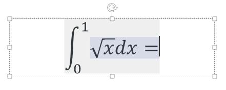 [数式ツール] 定積分の計算過程