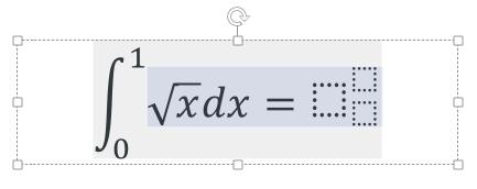 [数式ツール] 上付き文字・下付き文字のボックス